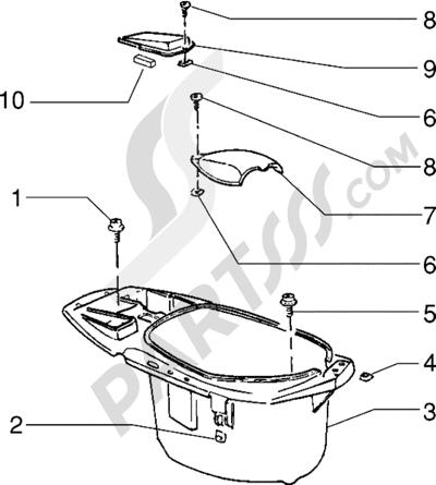 Piaggio Zip RST 1998-2005 Porta casco