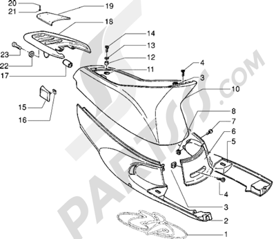 Piaggio Zip RST 1998-2005 Protecciones laterales