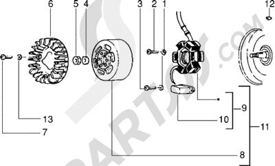 Piaggio Zip RST 1998-2005 Volante magnetico
