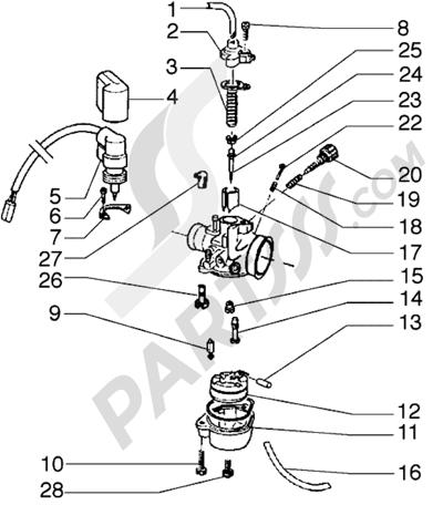 Piaggio Zip SP 1998-2005 Carburador