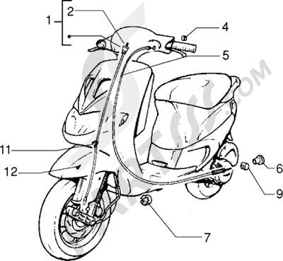 Piaggio Zip SP 1998-2005 Transmisiones