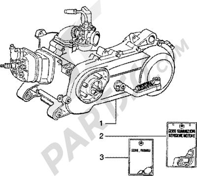 Piaggio Zip SP 50 1998-2005 Motor