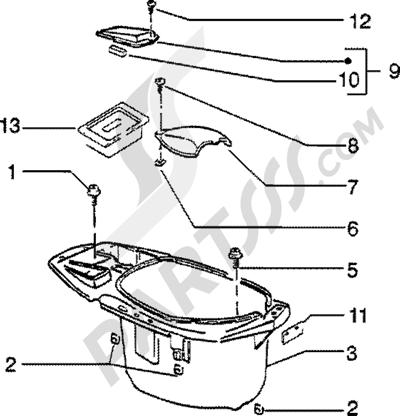 Piaggio Zip SP 50 1998-2005 Porta casco
