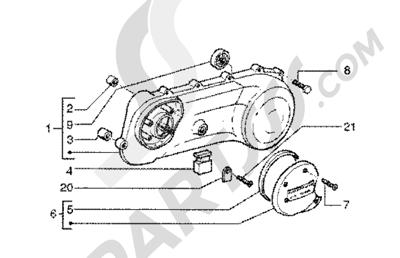 Piaggio Zip SP 50 1998-2005 Tapa transmision