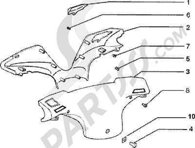 Piaggio Zip SP 50 1998-2005 Tapas manillar