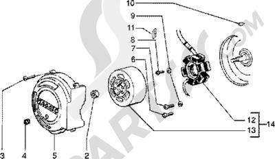 Piaggio Zip SP 50 1998-2005 Volante magnetico