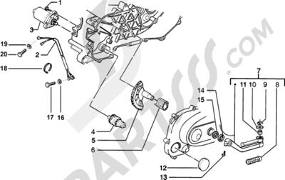 Piaggio Zip SP H2O 1998-2005 Motor de arranque-Palanca de arranque