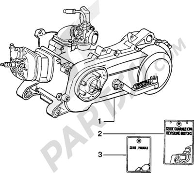 Piaggio Zip SP H2O 1998-2005 Motor