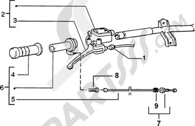 Piaggio Zip SP H2O 1998-2005 Piezas que componen el manillar
