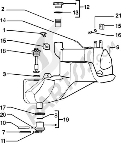Piaggio Zip SP H2O 1998-2005 Tanque carburante
