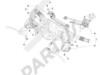 Vespa Vespa 125 4T 3V ie Primavera 2013-2016 Conmutadores - Conmutadores - Pulsadores - Interruptores