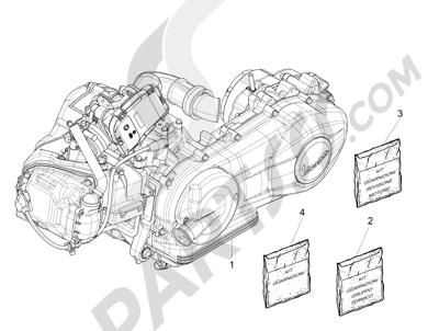 Vespa Vespa 125 4T 3V ie Primavera 2013-2016 Motor completo