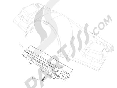 Vespa Vespa 125 4T 3V ie Primavera 2013-2016 Tablero de instrumentos - Cruscotto