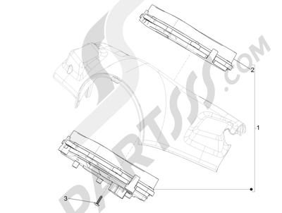 Vespa Vespa Primavera 50 4T-2V 25 km/h (B-NL) 2014-2016 Tablero de instrumentos - Cruscotto