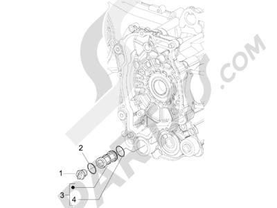 Vespa Vespa Primavera 50 4T-2V 25 km/h (B-NL) 2014-2016 Tapa volante magnetico - Filtro de aceite