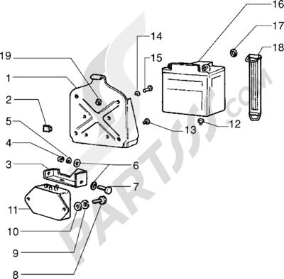 Vespa Vespa PX 125 E 1998-2005 Bateria-Regulador