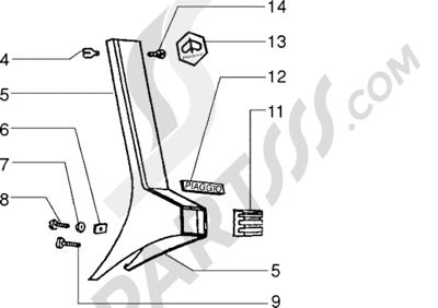 Vespa Vespa PX 125 E 1998-2005 Cubre direccion