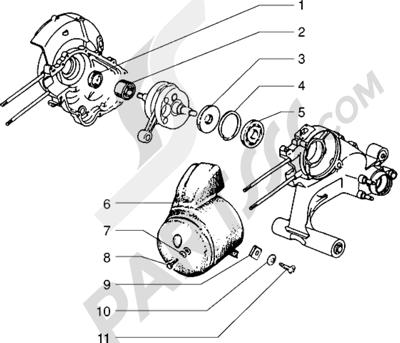 Vespa Vespa PX 125 E 1998-2005 Deflector-cojinetes principales