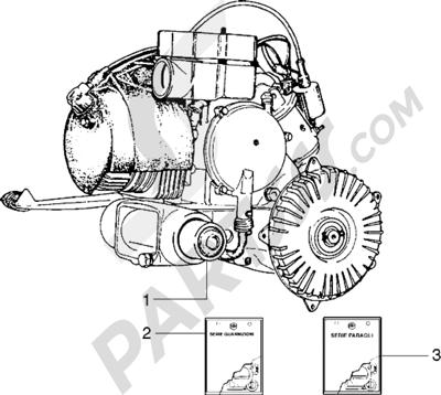 Vespa Vespa PX 125 E 1998-2005 Motor