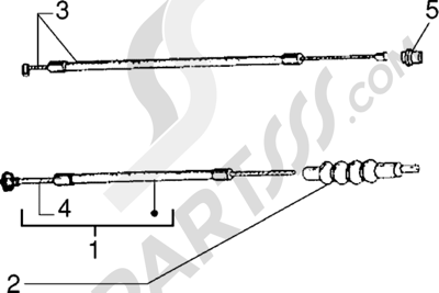 Vespa Vespa PX 125 E 1998-2005 Transmision embrague-gas