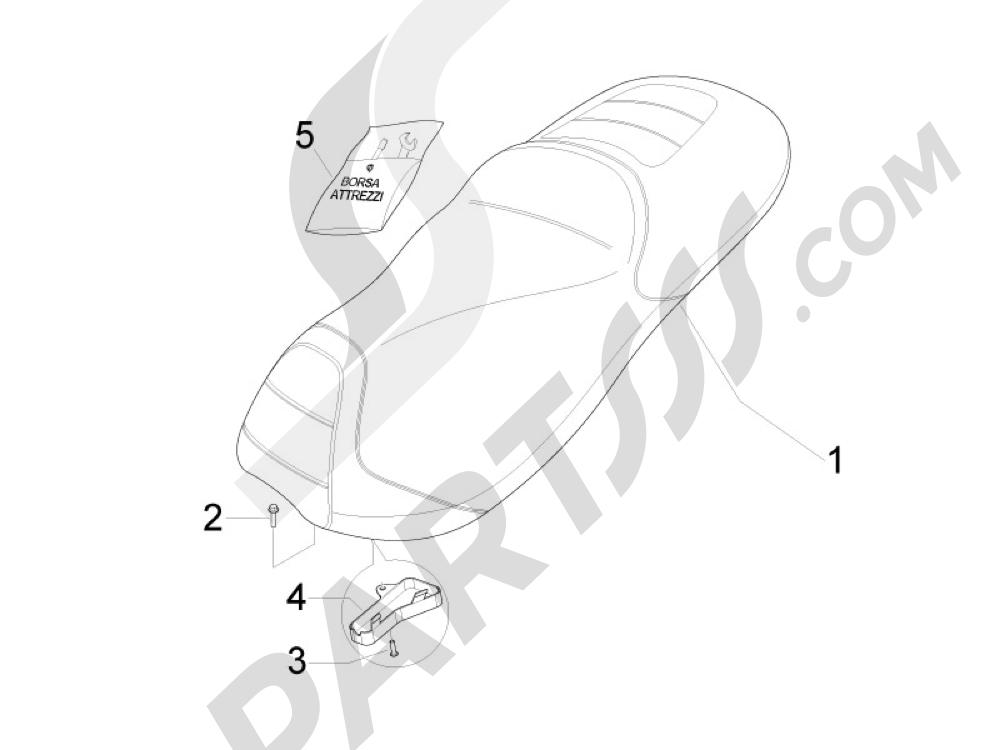 Sillín asientos Gilera Fuoco 500 4T-4V ie E3 LT 2013-2014