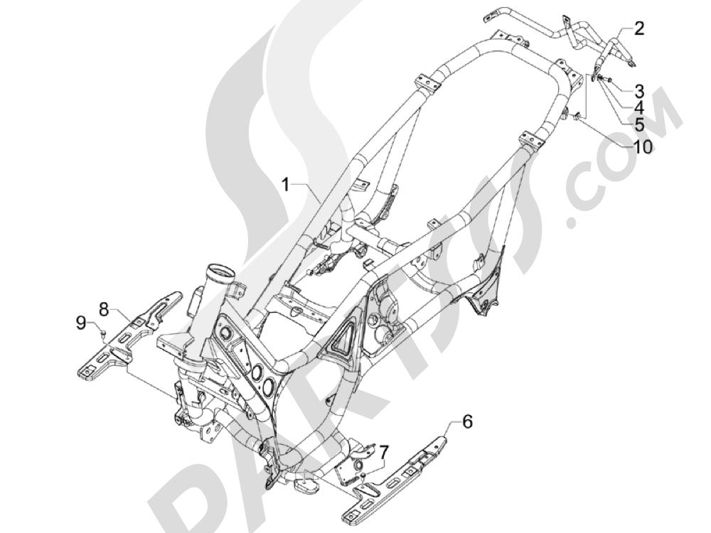 Gilera GP 800 2009-2011 Chasis carrocería