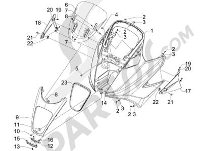 Gilera GP 800 2009-2011 Escudo delantero