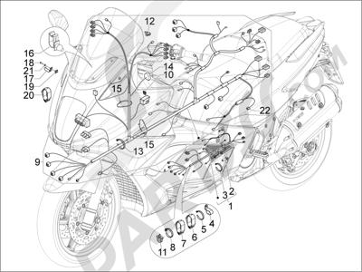 Gilera GP 800 2009-2011 Grupo cables principal