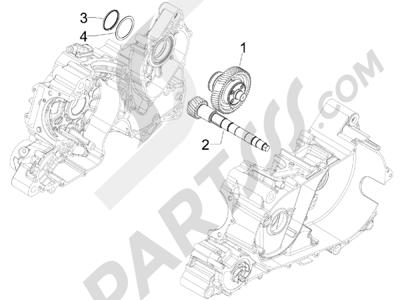 Gilera GP 800 2009-2011 Grupo reductor