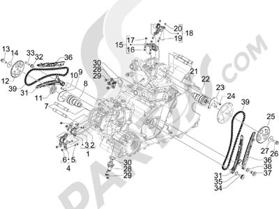Gilera GP 800 2009-2011 Grupo soporte balancines