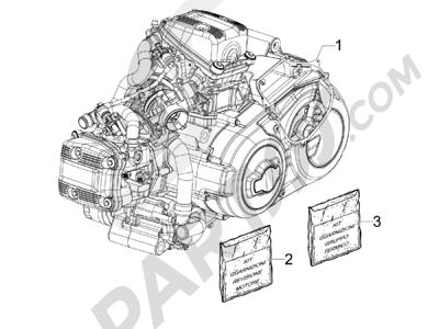 Gilera GP 800 2009-2011 Motor completo