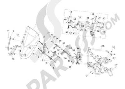 Gilera GP 800 2009-2011 Parabrisas - Cristales