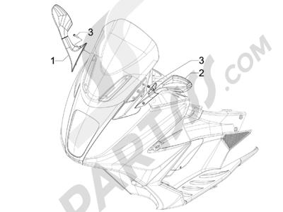 Gilera GP 800 2009-2011 Retrovisor es