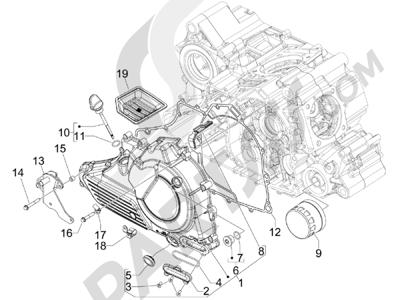 Gilera GP 800 2009-2011 Tapa volante magnetico - Filtro de aceite