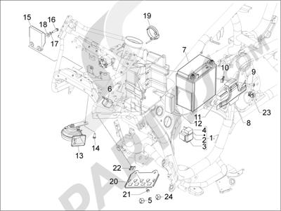 Gilera GP 800 2009-2011 Telerruptores - Bateria - Claxon