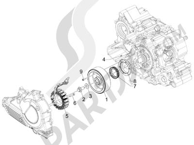 Gilera GP 800 2009-2011 Volante magnetico