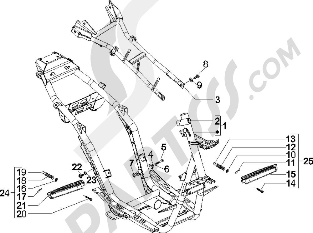 Gilera Runner 50 SP 1998-2005 Chasis carrocer'a