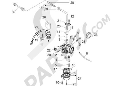 Gilera Runner 50 SP 1998-2005 Componentes de carburador