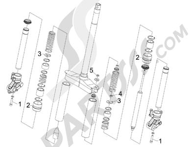 Gilera Runner 50 SP 1998-2005 Componentes de la horquilla (Wuxi Top)
