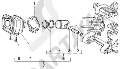 Gilera Runner 50 SP 1998-2005 Grupo cilindro-piston-eje de piston