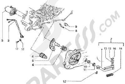 Gilera Runner 50 SP 1998-2005 Motor de arranque-palanca de arranque