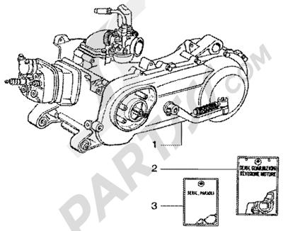 Gilera Runner 50 SP 1998-2005 Motor