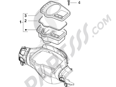 Gilera Runner 50 SP 1998-2005 Tablero de instrumentos - Cruscotto