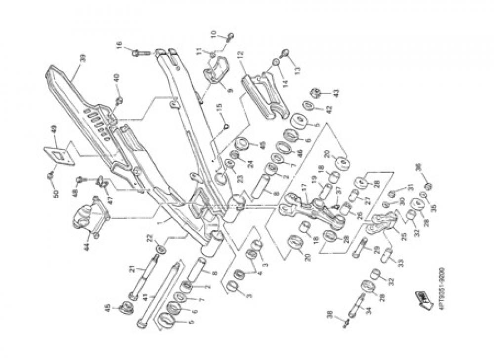 REAR ARM Yamaha XT600E 2002