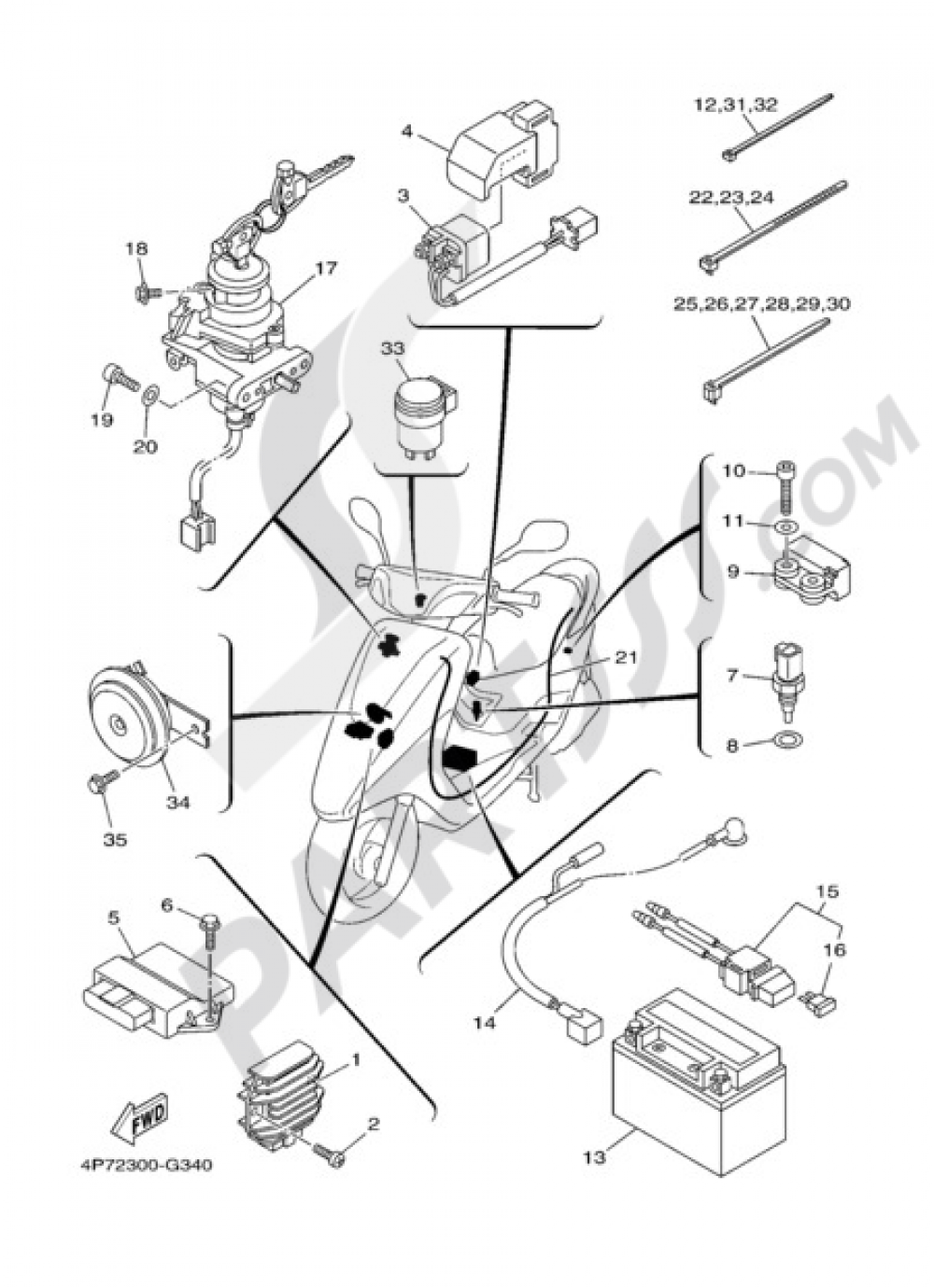 vity-125-2009-46-fig-34-equipo-electrico-1_1000 png