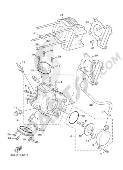 Yamaha Cygnus X 125 2005 Dissassembly Sheet Purchase Genuine Spare
