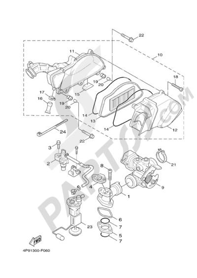 Yamaha Cygnus X 125 2008 Dissassembly sheet  Purchase