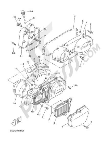Yamaha X-City 250 2008 CRANKCASE COVER 1