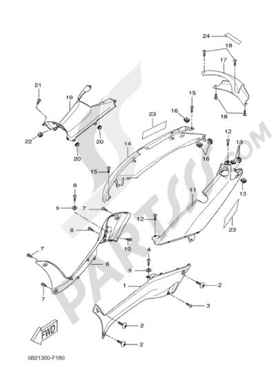 Yamaha X-City 250 2008 SIDE FAIRING / COWLING