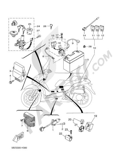 Yamaha X-City 250 2008 ELECTRIC EQUIPMENT 1